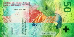 50 Francs SUISSE  2015 P.New NEUF