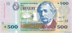 500 Pesos Uruguayos URUGUAY  2009 P.090b NEUF