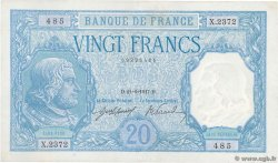 20 Francs BAYARD  FRANCE  1917 F.11.02 XF+