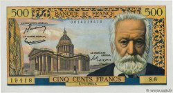 500 Francs VICTOR HUGO FRANCE  1954 F.35.01 pr.SPL