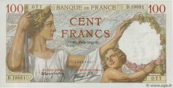 100 Francs SULLY  FRANCE  1941 F.26.48 UNC-