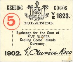5 Rupee COCOS KEELING ISLANDS  1902 PS.128 XF - AU
