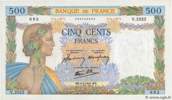 500 Francs LA PAIX FRANCE  1941 F.32.14 SPL+