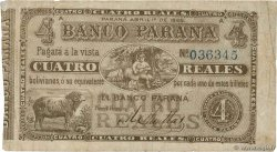 4 Reales Bolivianos ARGENTINIEN  1868 PS.1814a fS
