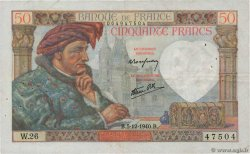 50 Francs JACQUES CŒUR  FRANCE  1940 F.19.04