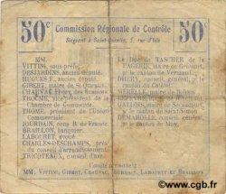 50 Centimes FRANCE régionalisme et divers ALAINCOURT 1916 JP.02-0016.BRU TTB