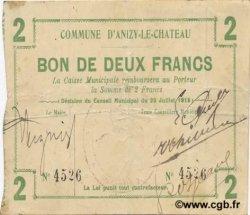 2 Francs FRANCE régionalisme et divers ANIZY LE CHATEAU 1915 JP.02-0043 TTB