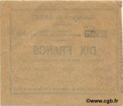 10 Francs FRANCE régionalisme et divers BARZY 1915 JP.02-0126 SPL