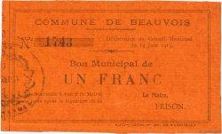 1 Franc FRANCE régionalisme et divers BEAUVOIS 1915 JP.02-0162 pr.NEUF
