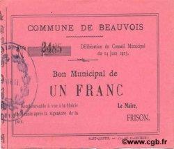 1 Franc FRANCE régionalisme et divers  1915 JP.02-0163 SPL
