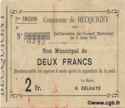 2 Francs FRANCE régionalisme et divers  1915 JP.02-0172 TTB