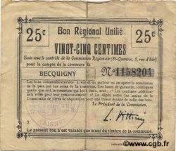 25 Centimes FRANCE régionalisme et divers  1916 JP.02-0173.BRU TB+