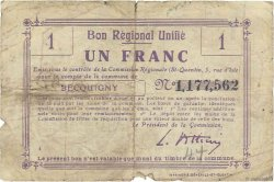 1 Franc FRANCE régionalisme et divers BECQUIGNY 1916 JP.02-0173.BRU B