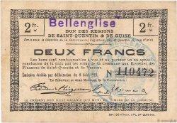 2 Francs FRANCE régionalisme et divers BELLENGLISE 1916 JP.02-0186.SQG TTB