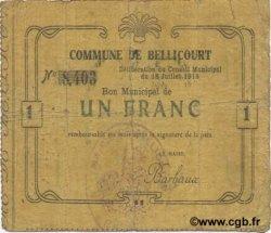 1 Franc FRANCE régionalisme et divers BELLICOURT 1915 JP.02-0197 TB