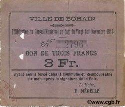 3 Francs FRANCE régionalisme et divers  1914 JP.02-0250 TB+