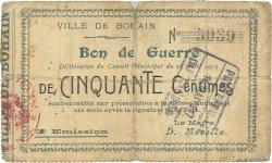50 Centimes FRANCE régionalisme et divers  1915 JP.02-0260 TB