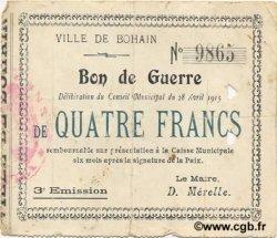 4 Francs FRANCE régionalisme et divers  1915 JP.02-0263 TTB