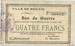 4 Francs FRANCE régionalisme et divers BOHAIN 1915 JP.02-0275 TB+