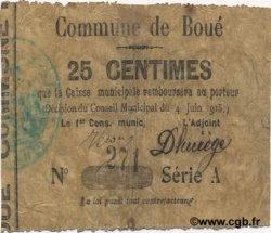 25 Centimes FRANCE régionalisme et divers BOUE 1915 JP.02-0309 TB