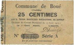 25 Centimes FRANCE régionalisme et divers BOUE 1915 JP.02-0313 pr.TTB