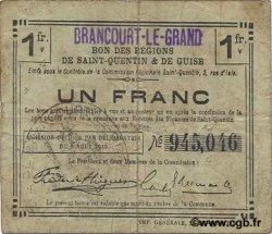 1 Franc FRANCE régionalisme et divers BRANCOURT-LE-GRAND 1916 JP.02-0359.SQG TB