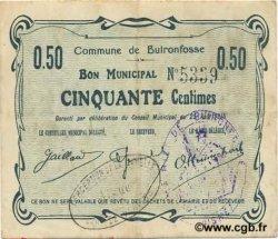 50 Centimes FRANCE régionalisme et divers BUIRONFOSSE 1915 JP.02-0380 TTB