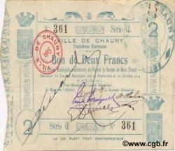 2 Francs FRANCE régionalisme et divers CHAUNY 1915 JP.02-0473 TTB