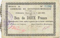 2 Francs FRANCE régionalisme et divers  1915 JP.02-0494 TTB
