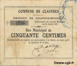 50 Centimes FRANCE régionalisme et divers  1915 JP.02-0517 TTB