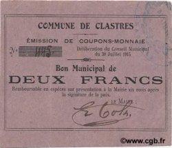 2 Francs FRANCE régionalisme et divers  1915 JP.02-0519 SUP