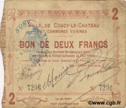 2 Francs FRANCE régionalisme et divers COUCY LE CHATEAU 1915 JP.02-0527 TB+