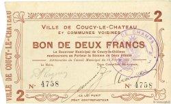 2 Francs FRANCE régionalisme et divers COUCY LE CHATEAU 1915 JP.02-0527 SPL