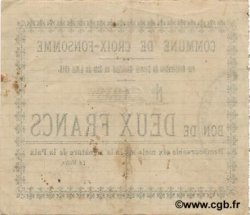2 Francs FRANCE régionalisme et divers CROIX FONSOMME 1915 JP.02-0559 TTB