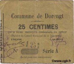25 Centimes FRANCE régionalisme et divers DORENGT 1915 JP.02-0597 TTB