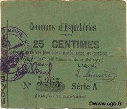 25 Centimes FRANCE régionalisme et divers ESQUEHERIES 1915 JP.02-0652 TTB