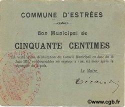 50 Centimes FRANCE régionalisme et divers ESTREES 1915 JP.02-0695 TTB
