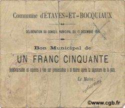 1,50 Franc FRANCE régionalisme et divers ETAVES ET BOCQUIAUX 1914 JP.02-0704 TTB