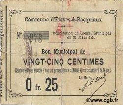 25 Centimes FRANCE régionalisme et divers ETAVES ET BOCQUIAUX 1915 JP.02-0711 TB