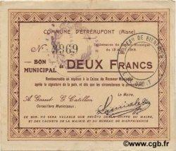 2 Francs FRANCE régionalisme et divers ETREAUPONT 1915 JP.02-0749 TTB
