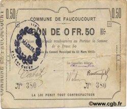 50 Centimes FRANCE régionalisme et divers FAUCOUCOURT 1915 JP.02-0775 TB