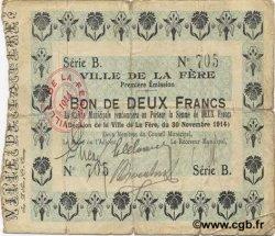 2 Francs FRANCE régionalisme et divers FERE (LA) 1914 JP.02-0785 TB