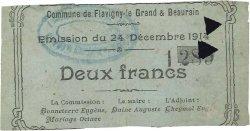 2 Francs FRANCE régionalisme et divers FLAVIGNY LE GRAND ET BEAURAIN 1914 JP.02-0871 TTB