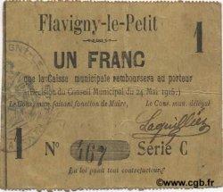 1 Franc FRANCE régionalisme et divers FLAVIGNY LE PETIT 1915 JP.02-0882 TTB