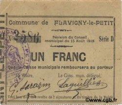 1 Franc FRANCE régionalisme et divers FLAVIGNY LE PETIT 1915 JP.02-0887 SUP