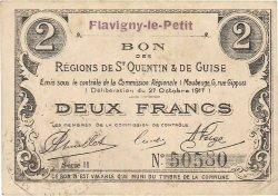 2 Francs FRANCE régionalisme et divers FLAVIGNY LE PETIT 1917 JP.02-0894.SQG TTB