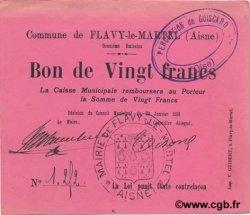 20 francs FRANCE régionalisme et divers FLAVY LE MARTEL 1915 JP.02-0901 SPL