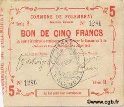 5 Francs FRANCE régionalisme et divers  1915 JP.02-0925 TTB+