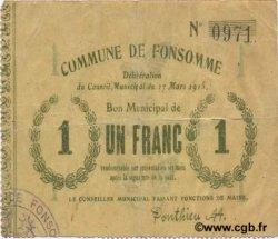 1 Franc FRANCE régionalisme et divers FONSOMME 1915 JP.02-0936 TTB
