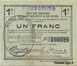 1 Franc FRANCE régionalisme et divers FONSOMME 1916 JP.02-0938.SQG SUP